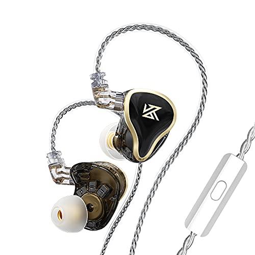 IEM Earbuds,KZ ZAS High Performance in-Ear Earphones (Detachable,Balanced Armature Drivers Dynamic Drivers 7BA+1DD Hybrid Earphones, Noise Isolating, High Accuracy) (with Mic, Black)