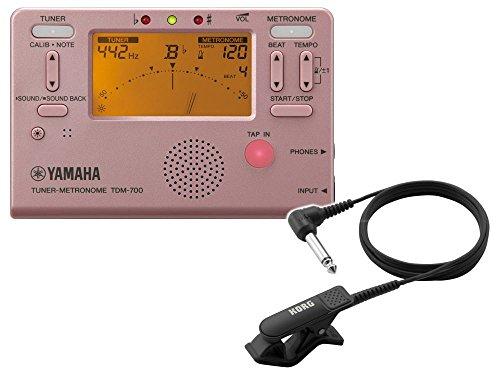 YAMAHAチューナーメトロノーム TDM-700P クリップマイク(ブラック) 付き (ヤマハ TDM700P ピンク)