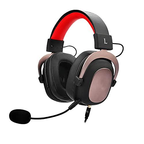 BAWAQAF Auriculares con micrófono para Juegos con micrófono, para PC PS4 Xbox Mobile