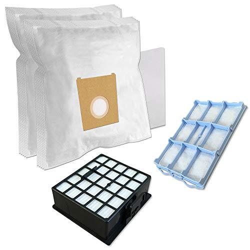 SET - 10 Staubsaugerbeutel + HEPA Filter + Motorschutzfilter Für SIEMENS synchropower hepa 2500W, VS06G2530/03, Synchropower VS06G2410/03, VSZ 31455, VSZ3.(Z3.0)