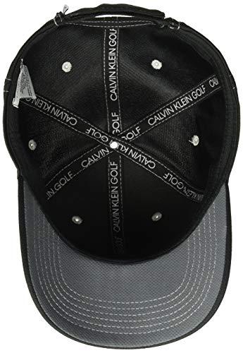 Calvin Klein Golf Men's Standard CK Performance Meche Baseball Cap, Black, One Size