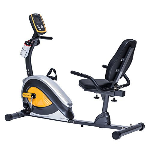 TechFit R400 Bicicleta Estática Reclinada, Ideal para el Entrenamiento de Recuperación, Sillín...