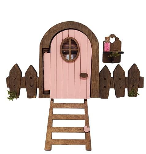 Puerta Ratoncito Pérez que se ABRE rosa, polvo mágico que brilla, escalera...