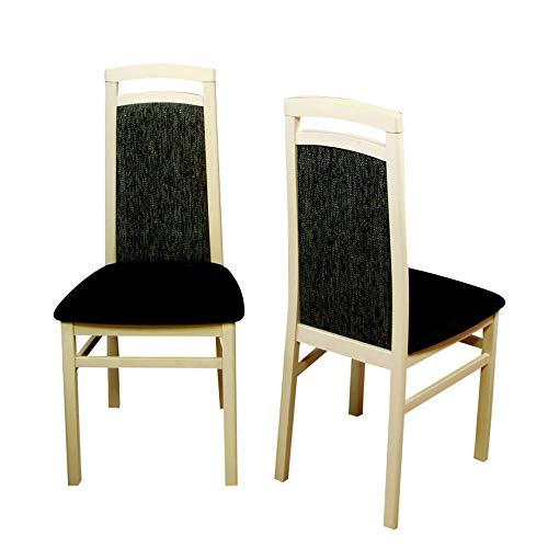 moebel direkt online 2er Set Stuhl Allure ahorn/schwarz