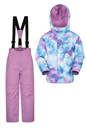 Mountain Warehouse Kids Ski Jacket & Pants Set – Winter Snowsuit Package Purple 13 Years