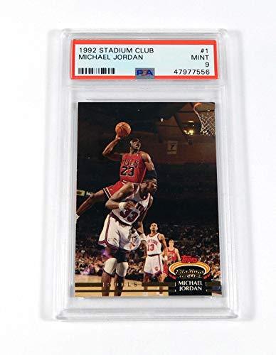 1992-93 Stadium Club Michael Jordan #1 Bulls PSA 9 - Basketball Cards