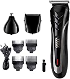 WFbag Shaver Hair Clipper Nose Hair Clipper Multi-Function Set Clipper Hair Head se Puede Lavar, Tres en uno (Corte de Pelo, reparación de Nariz, Afeitado), Uso en el hogar