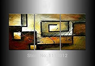 DIU Modern Original Abstract Oil Painting On Canvas Digital Art 3 Panel Set Home Wall Pictures For Living Room Fashion Dec...