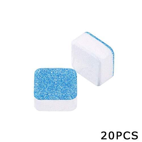 tangyuandain Waschmaschinenreiniger, 20 Tabletten, Waschmaschine, Tankreinigung, Entkalker, Brausetabletten, professionelle Stärke Flecken- und Geruchsentferner für Zuhause