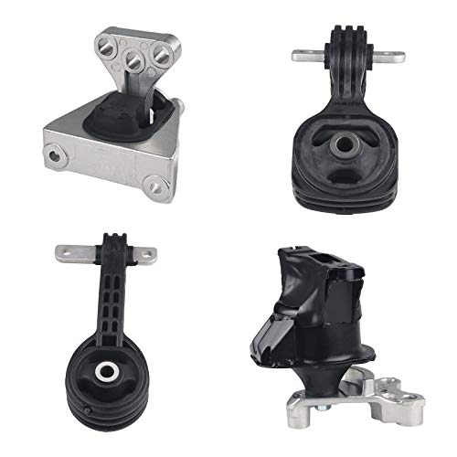 JDMON Compatible with 4Pcs Engine Motor and Transmission Mount Honda Civic 1.8L 2006-2011 Compatible with A4530 A4534 A4543 A4546