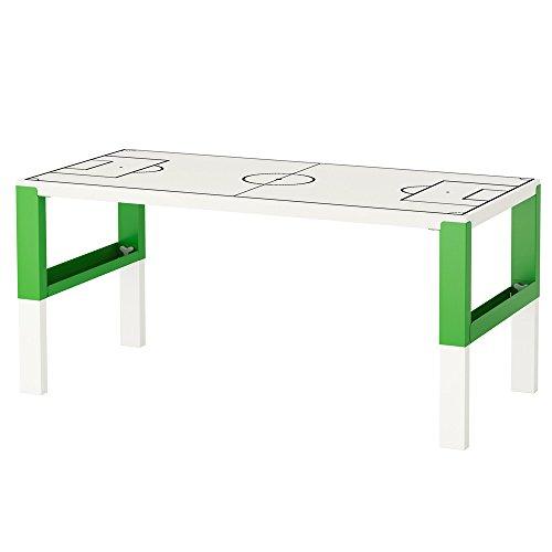 Limmaland Möbelaufkleber Fußballfeld weiß - passend für IKEA PAHL Kinder-Schreibtisch - Möbel Nicht inklusive