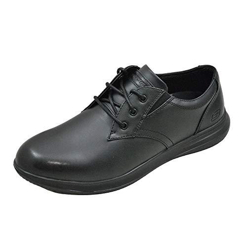 Skechers Darlow-Pace Oxford 204091 Zapatos Cordones para Hombre Negro Sintetico Talla: 48.5