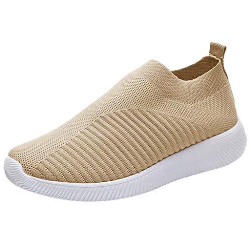 Yowablo - Zapatillas de deporte para mujer caqui 37 EU