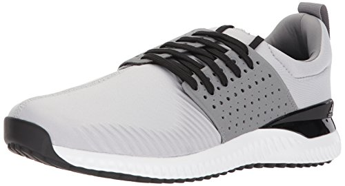 adidas Men's Adicross Bounce Golf Shoe, Light Solid Grey/Black, 11 M US