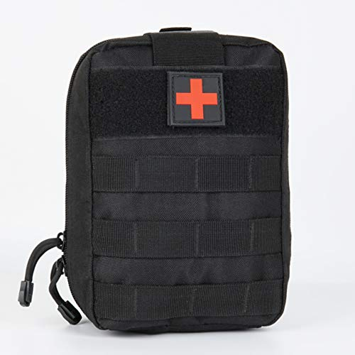 YOCOOL Erste Hilfe Set Tasche taktisch Notfalltasche Medizintasche Reiseapotheke Rettungsbeutel Outdoor Camping tragbar, Schwarz