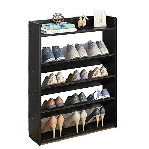 ZAIHW Zapatero Tamaño Simple de 5 Capas Organizador Opcional Estantes de pie (Color: Negro, Tamaño: 40 cm)
