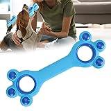Juguete para dientes para mascotas, juguete para masticar huesos, juguete interactivo para morder para perros, para jugar con los dientes, uso fácil, resistencia a la abrasión, forma de(Light blue)