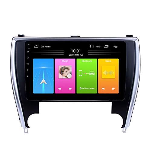 Kilcvt Navegación GPS para Automóvil, Reproductor De Radio Multimedia para Automóvil Android 10, para Toyota Camry 2015-2017 Soporte Control del Volante/Enlace Espejo/Bluetooth,4g WiFi: 1g 32g