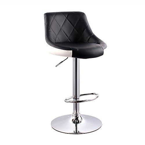 LJHA Tabouret pliable Tabouret de bar européen/tabouret arrière simple/tabouret haut coloré rotatif (8 couleurs facultatives) chaise patchwork (Couleur : C, taille : 83 * 41cm)
