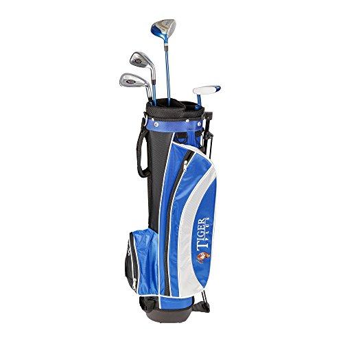 Longridge Kinder Golf Zubehör Junior Tiger Plus Paket GPH 4 Schläger, Schwarz/Blau, LH (Linke Hand), Regular (R), 0
