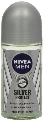 Nivea 50ml für Herren Silber Schützen Antibakterieller Schutz Anti-Transpirant Deodorant
