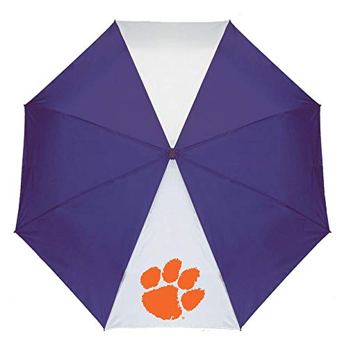 Great Deal! Storm Duds Clemson University Tigers Umbrella Auto Open 42 Folding Umbrella