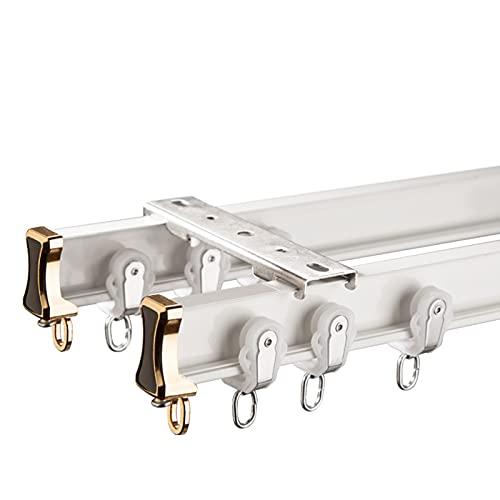 Doble Pista Curva Silent Silent Curtain Track Aleación de Aluminio Nano Cortina Rod Raidal de la Pista de la Pista de la Pista 0903 (Color : Ivory White, Size : 2M)