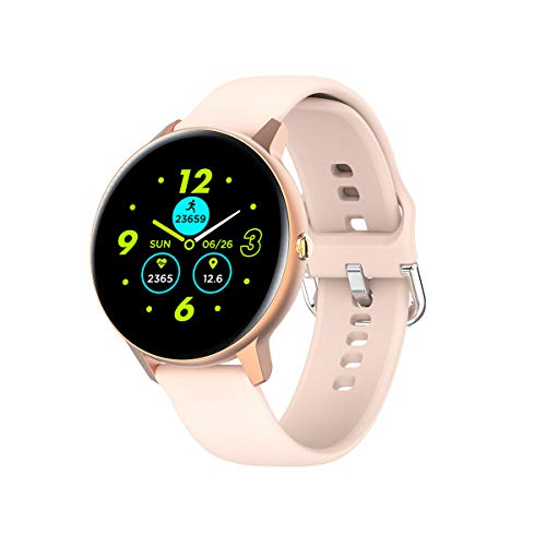 Phipuds Smartwatch, Reloj Inteligente Hombre Mujer Ip68 Impermeable con Pulsómetro Presión Arterial Monitor de Sueño, Pulsera Actividad Relojes Deportivos con Caloría Podómetro para Android iOS dorado