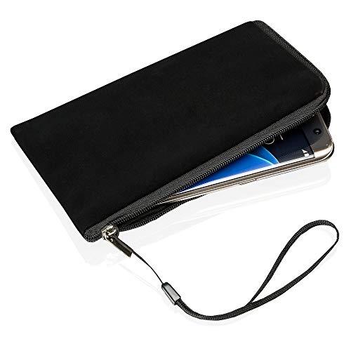 Smart-Planet® Neopren Handyhülle Smartphone Handy Universal Tasche mit Reißverschluss - Größe Innen: 17,5 x 9,8 x 1,2 cm - Größe 2XL - Schwarz