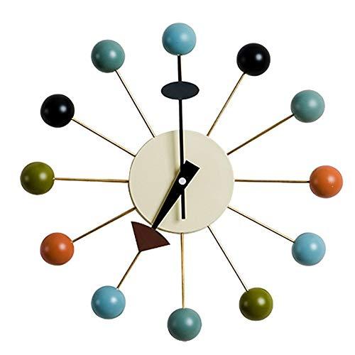 SUIBIANBA Kreativ Candy Uhr,Ball Clock Multi Color Nicht Ticken 3D Rahmenlose Quarzuhr Dekorative Für Zuhause Büros