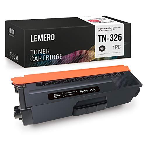LEMERO Ersatz TN326BK Kompatible für Brother TN 326 zu Brother MFC-L8650CDW HL-L8250CDN HL-L8350CDW MFC-L8850CDW MFC-L8600CDW DCP L8400CDN DCP L8450CDW HL-L8250CDW HL-L8350 HL-L8350CDWT,Schwarz