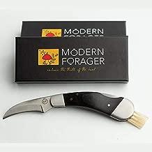Mushroom Hunting Knife Folding with Boar Bristles and Blade Lock