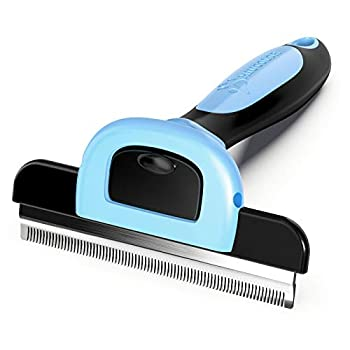 MIU COLOR Pet Grooming Brush Deshedding Tool for Dogs & Cats Effectively Reduces Shedding by up to 95% for Short Medium and Long Pet Hair