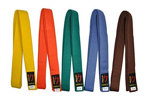 Chikara Karate Gürtel einfarbig (Gelb, 240)