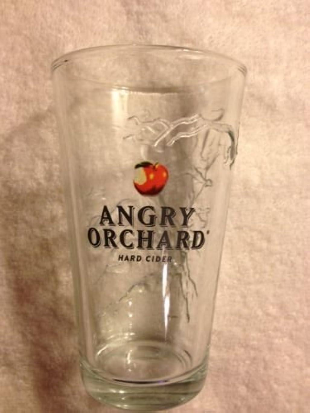 力学彫る強打Angry Orchard Hard Cider Pint Glass Set of 2 Glasses