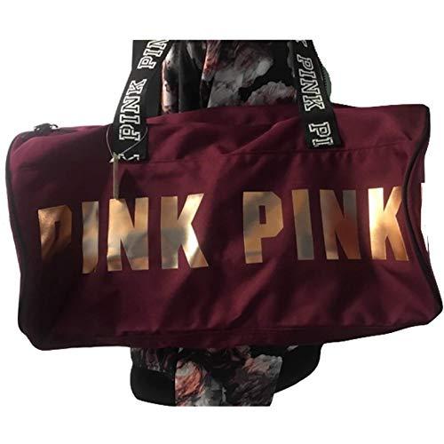 Victoria's Secret PINK New Round Mini Duffle Bag (Deep Ruby)