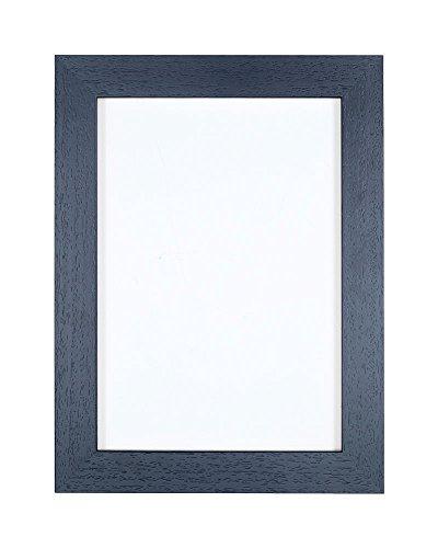 Geborsteld zwarte fotolijst/foto-/posterlijst - onbreekbaar plexiglas van styreen voor hoge helderheid - 35 mm breed en 15 mm diep - geborsteld zwart - 14 x 11 inch formaat.