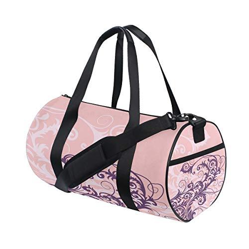 Duffle Bag Amazing Vector Ornament Flower Style Pink Gym Sport Travel Weekender Bag Luggage Handbag for Women Men