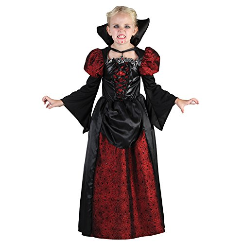 Eurocarnavales - CS99288 - Costume vampiresse 10/12 ans avec housse