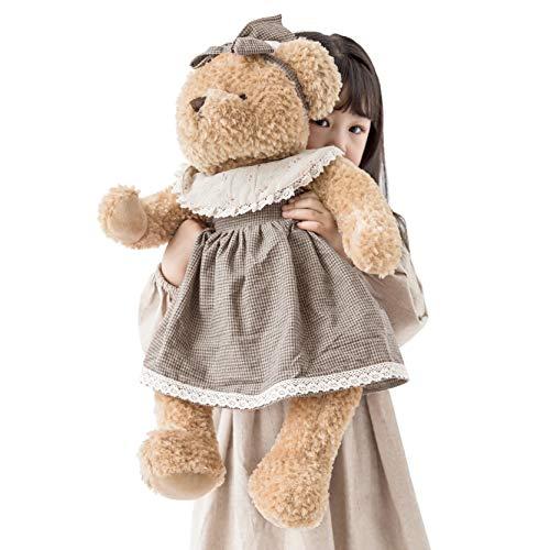 Oitscute Big Baby Teddy Bear with Cloth Cute Stuffed Animal Soft Plush Toy 25' (Black&Brown)