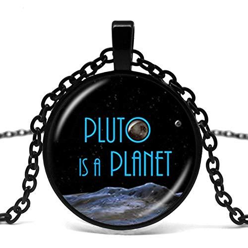 Pluto Star Ball Glas-Anhänger Galaxie-Halskette Weltraum-Halskette Pluto ist ein Planeten-Cosmic Astronomie Geek Astronom.