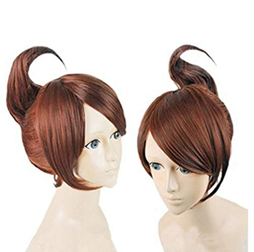 RSV Danganronpa Asahina Aoi Wig Brown Red Cosplay Costume Wig for Party