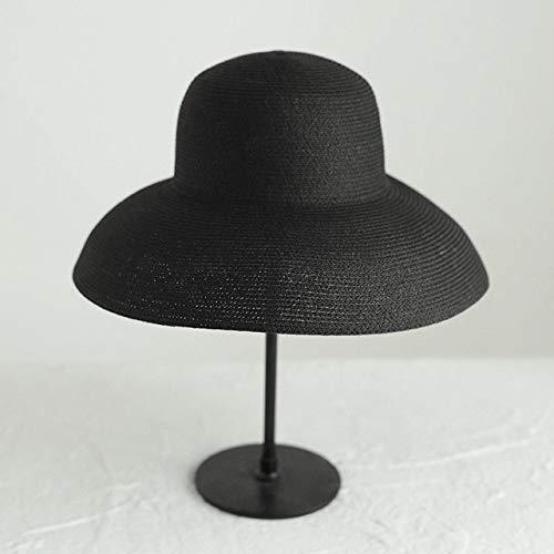 XIAOPANG Estate Grande Tesa Larga Spiaggia Cappello di Paglia Pieghevole Handmade Oversize Cappelli Moda Per Le Donne Signore Cappello Protezione UV