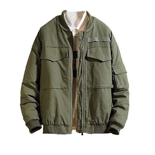 Abrigo de invierno de los hombres de algodón acolchado chaqueta corta cuello soporte grande ropa de trabajo de algodón acolchado ropa gruesa y suelta