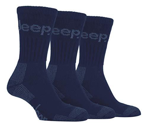 Jeep Terrain - Socken für Spaziergänge & Wanderungen, (3 Paar) 39-45 EUR, Marineblau