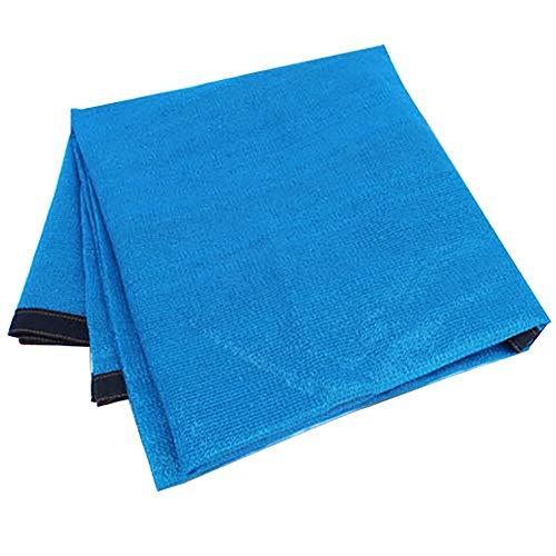 GuoWei Sonnensegel 80% Sonne Blockiert Masche Netto Abdeckung Atmungsaktiv mit Tülle für Garten Draussen Anpassbar (Farbe : Blau, größe : 5x10m)