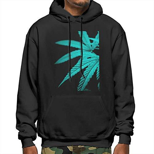 Sudadera unisex con capucha y estampado gráfico en 3D, con bolsillos, diseño de hojas de marihuana