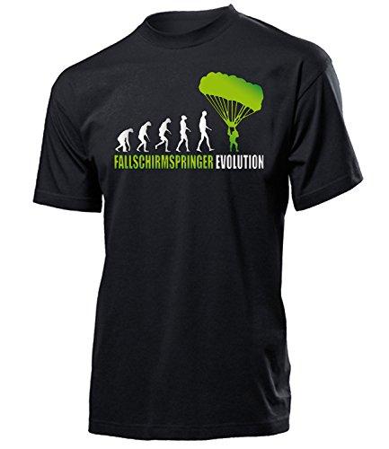 Fallschirmspringer Evolution Herren Männer t Shirt Tshirt t-Shirt Zubehör Geburtstag Geschenke Erwachsene Drachen Gleitschirm Paraglider fliegen Kite Schirm Bekleidung Oberteil Hemd Kleidung Outfit