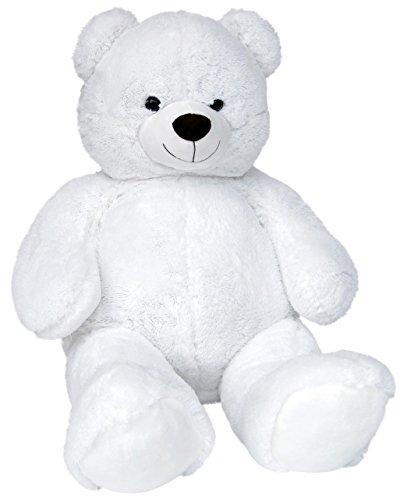 Wagner 9041 - Riesen XXL Teddybär 140 cm groß in Weiss - Plüschbär Kuschelbär Teddy Bär in Weiss 1,40 m