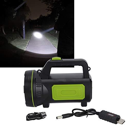 Antorcha recargable USB, linterna, luz de trabajo, luz de búsqueda para mejorar el brillo, para viajes, montañismo, exploración, acampada